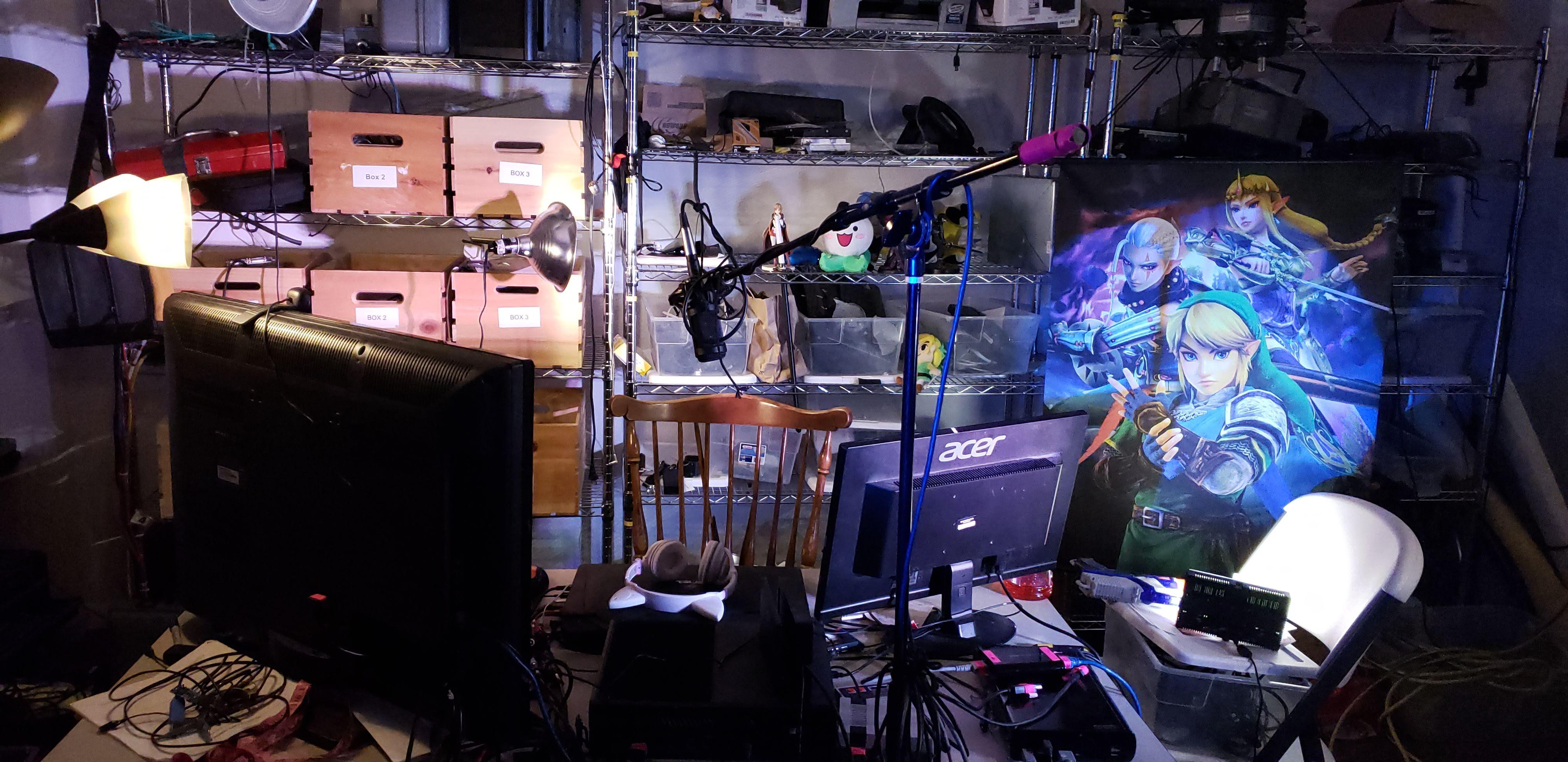 Lights, and a gaming setup